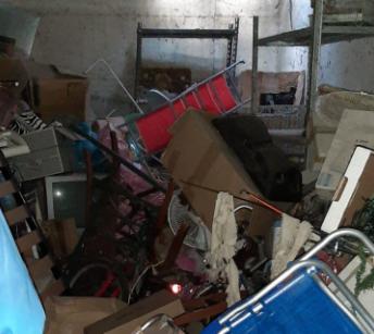 Il garage dove era chiuso Yuri